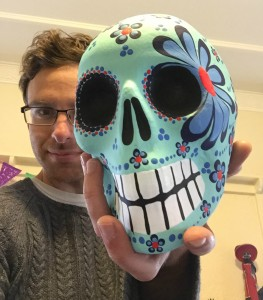 Andrew with skull