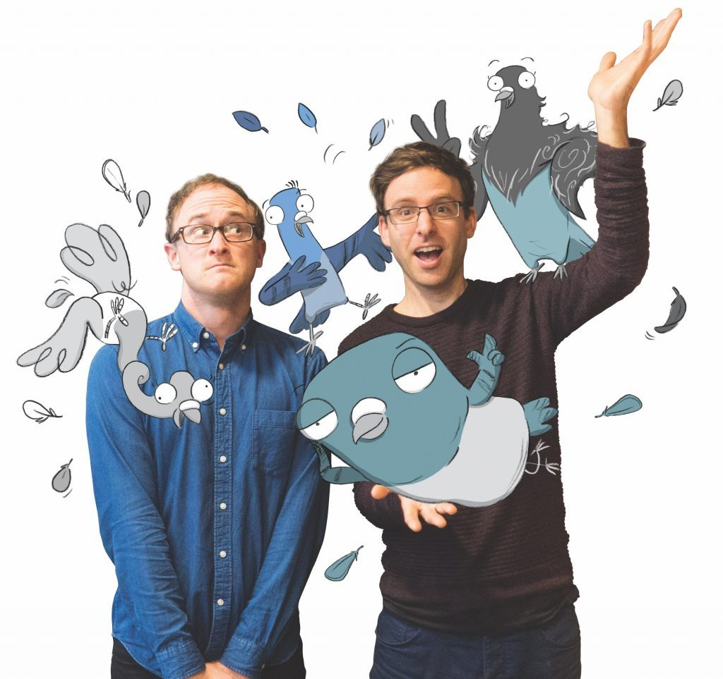 Image of the Real Pigeons with Ben Wood and Andrew McDonald.