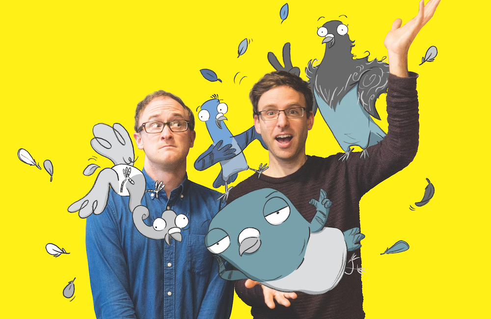 Real Pigeons creators – Ben Wood and Andrew McDonald